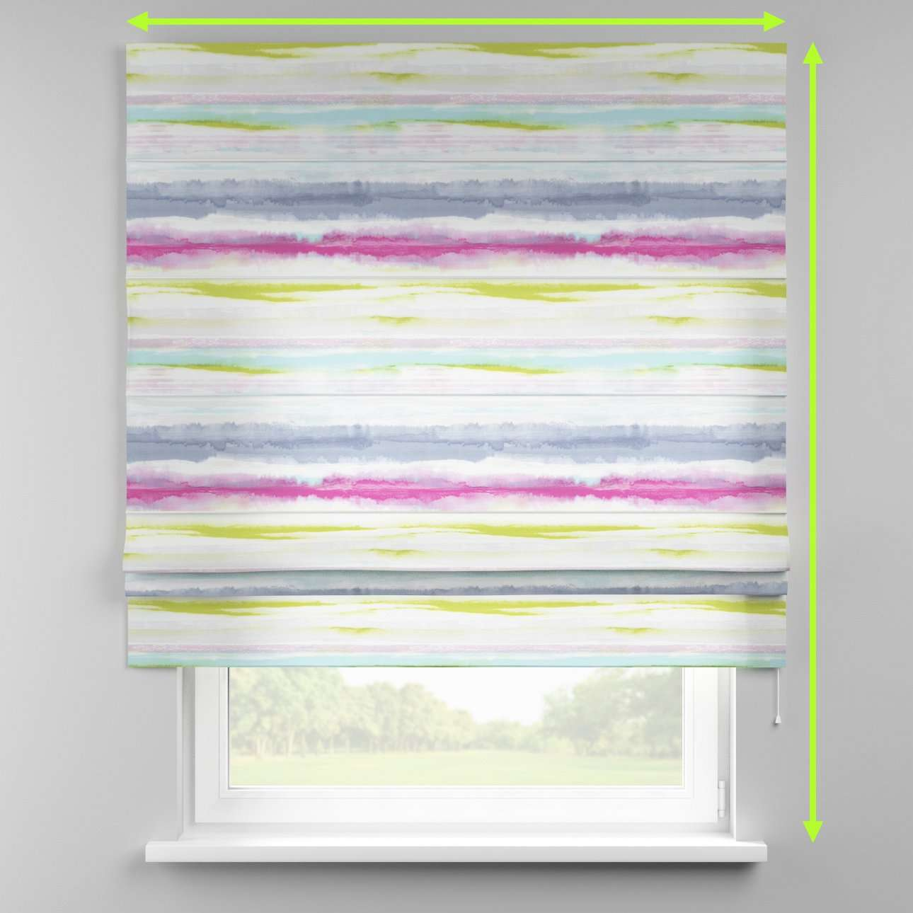 Padva roman blind  in collection Aquarelle, fabric: 140-69