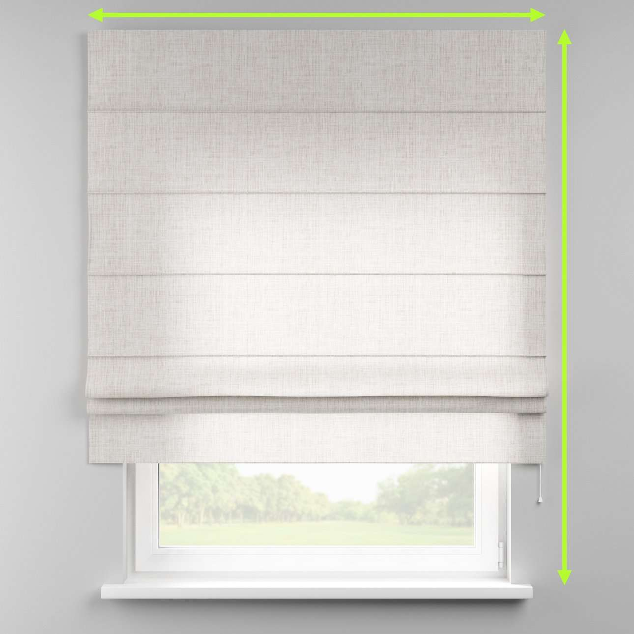 Padva roman blind  in collection Aquarelle, fabric: 140-75
