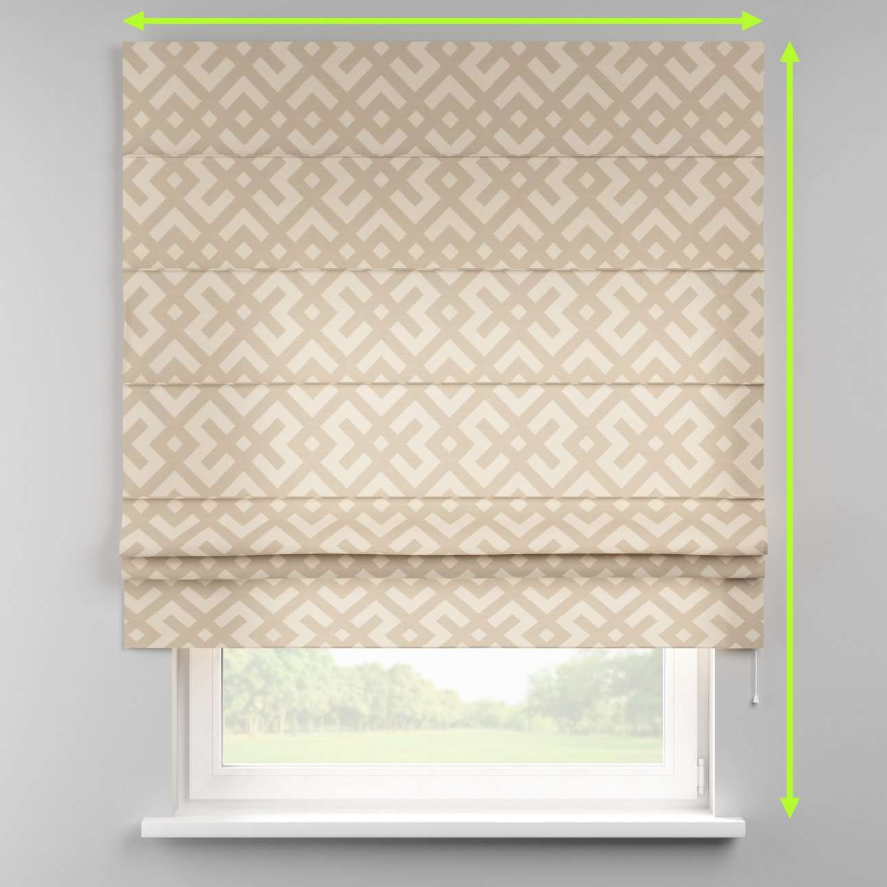 Padva roman blind  in collection Rustica, fabric: 140-95