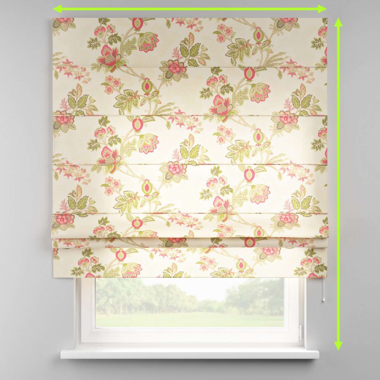 Padva roman blind  in collection Flowers, fabric: 140-98