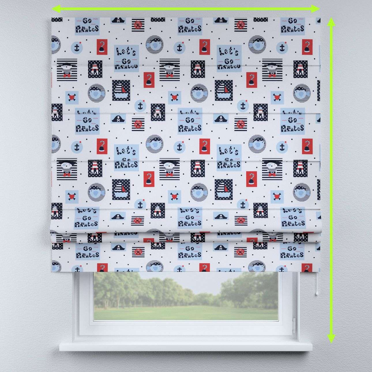 Padva roman blind  in collection Little World, fabric: 141-29
