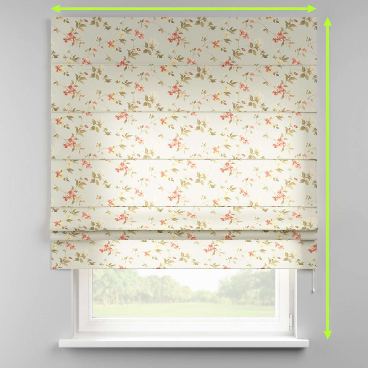 Padva roman blind in collection Londres, fabric: 124-65