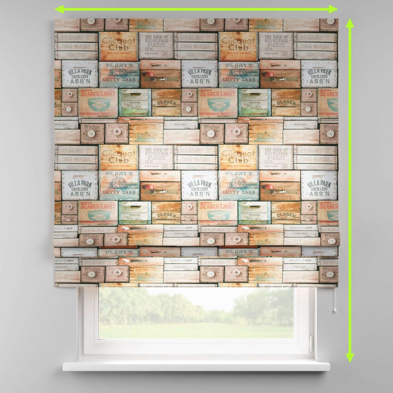 Padva roman blind  in collection Norge, fabric: 150-10