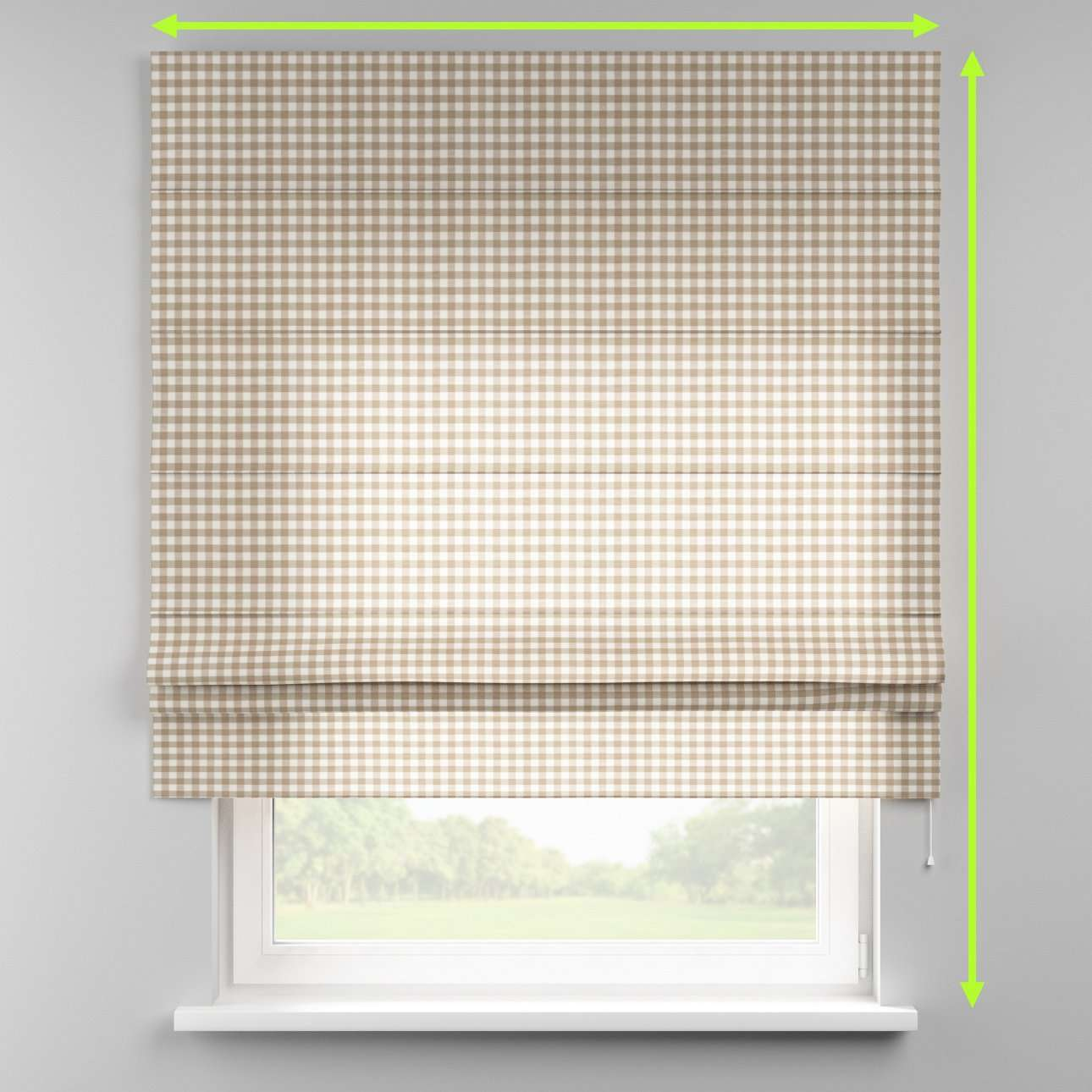 Padva roman blind in collection Quadro, fabric: 136-06