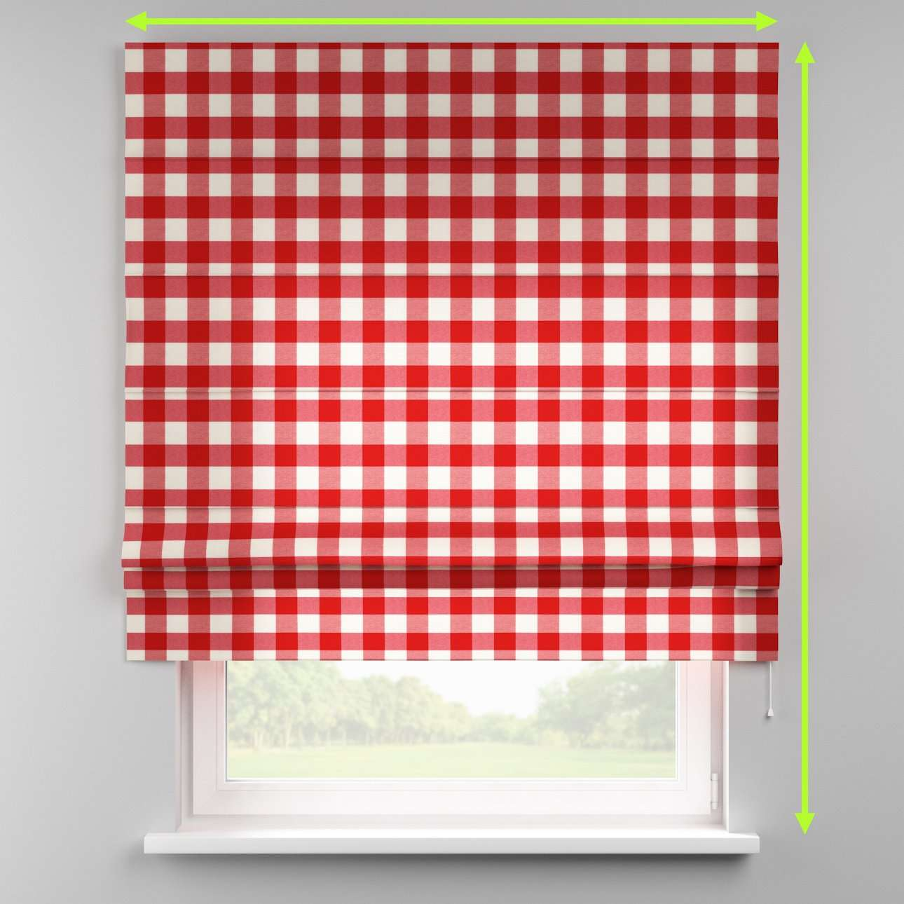Padva roman blind in collection Quadro, fabric: 136-18