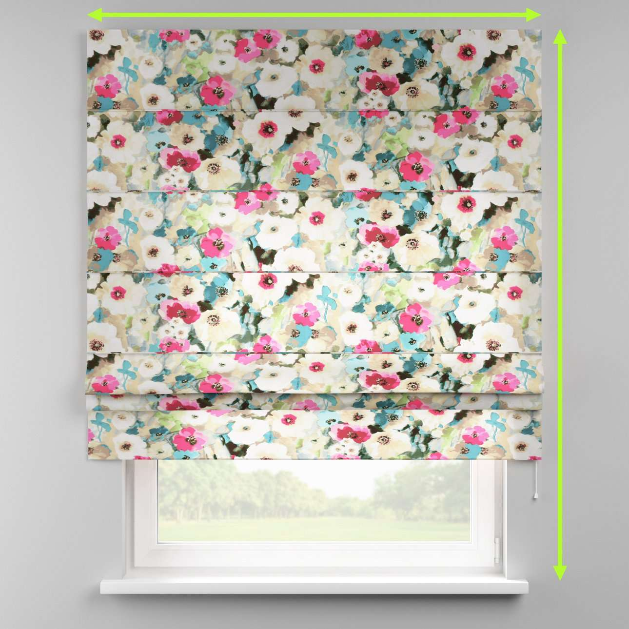 Padva roman blind in collection Monet, fabric: 140-08