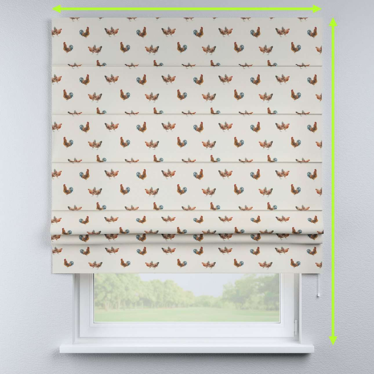 Padva roman blind in collection Flowers, fabric: 141-80