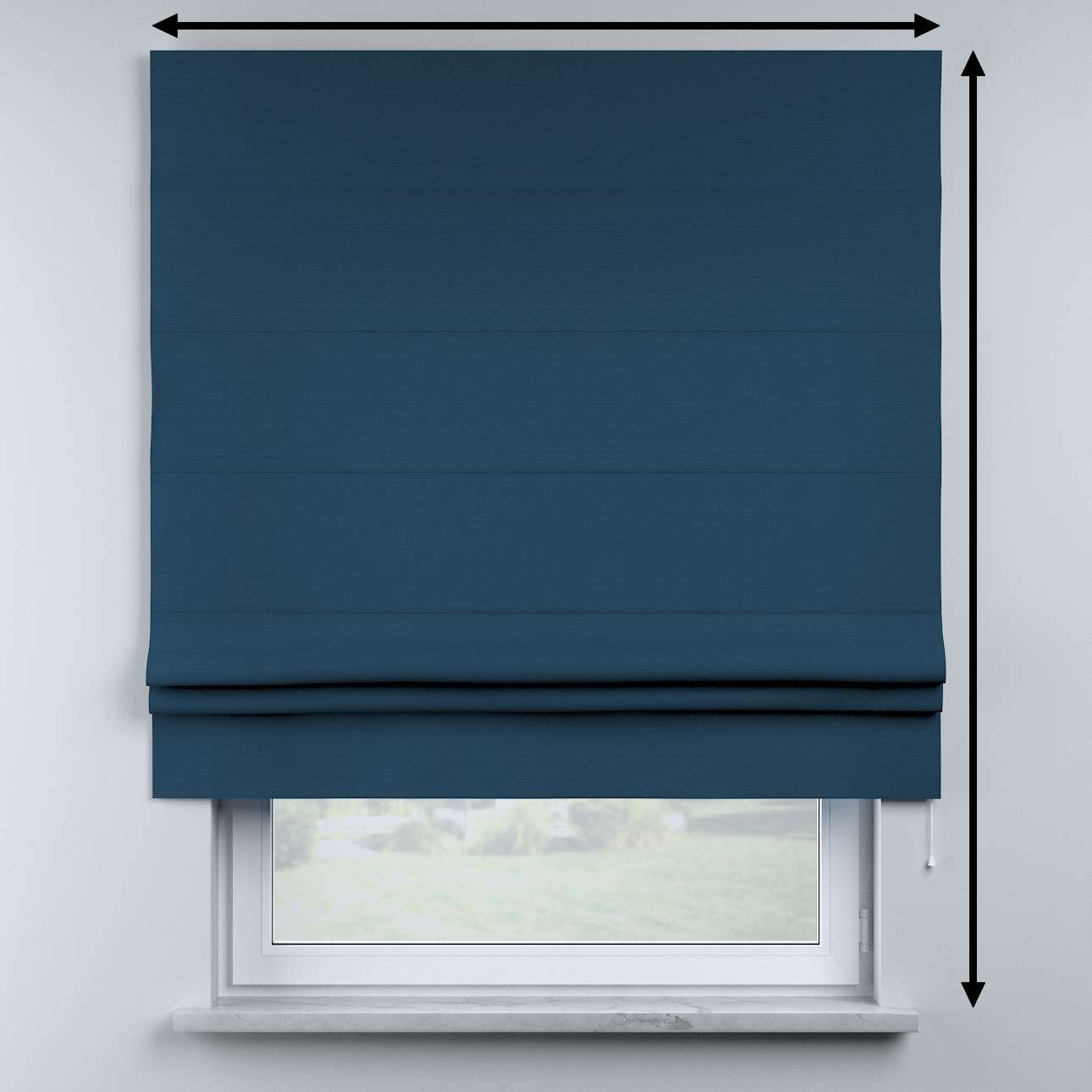Sammy roman blind in collection Cotton Story, fabric: 702-30