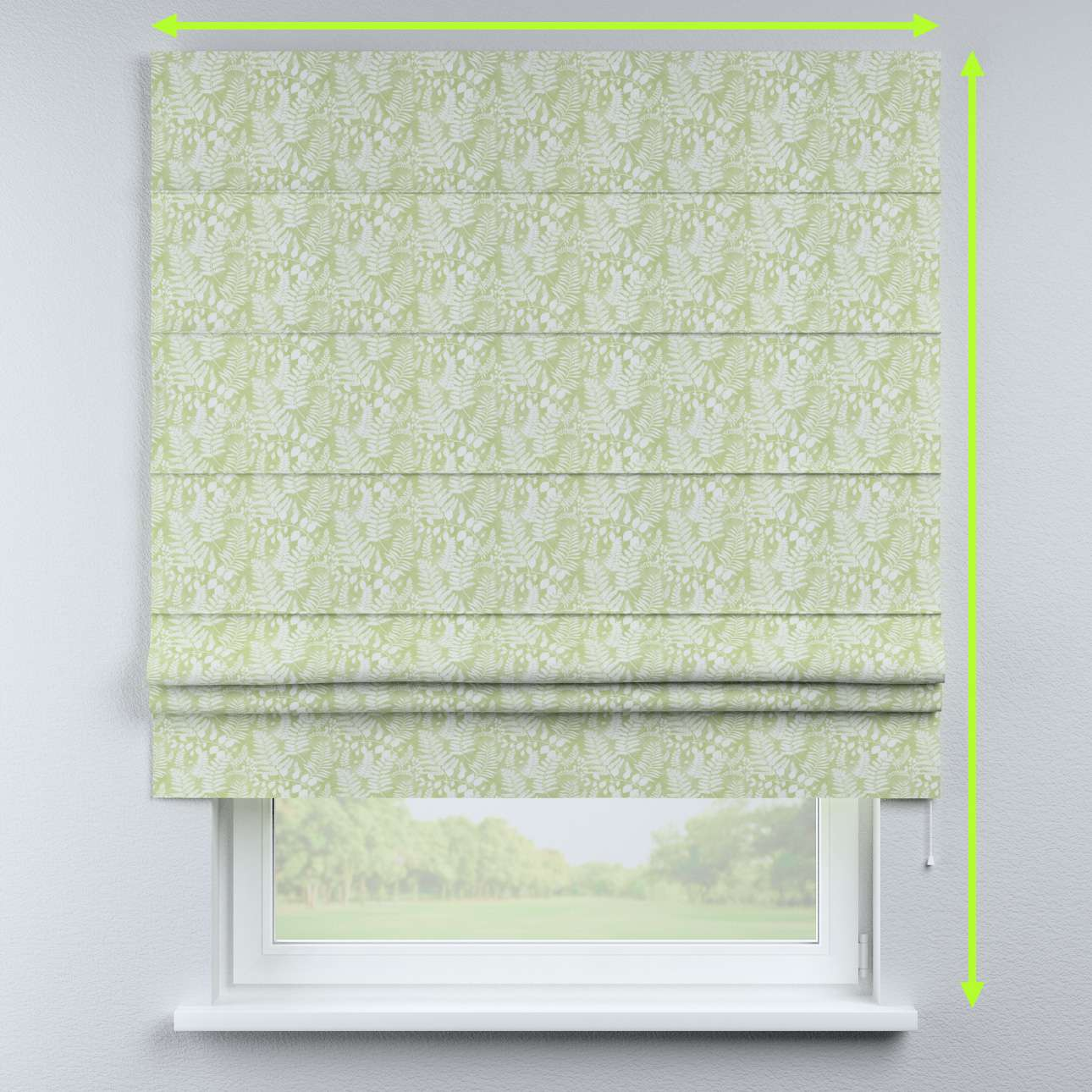 Padva roman blind in collection Pastel Forest, fabric: 142-49