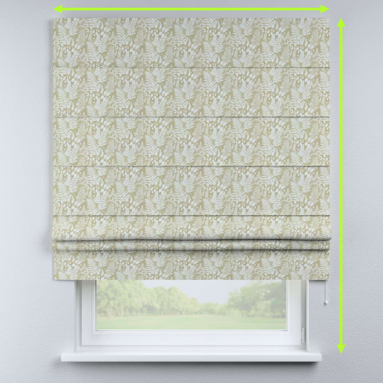 Padva roman blind in collection Pastel Forest, fabric: 142-50