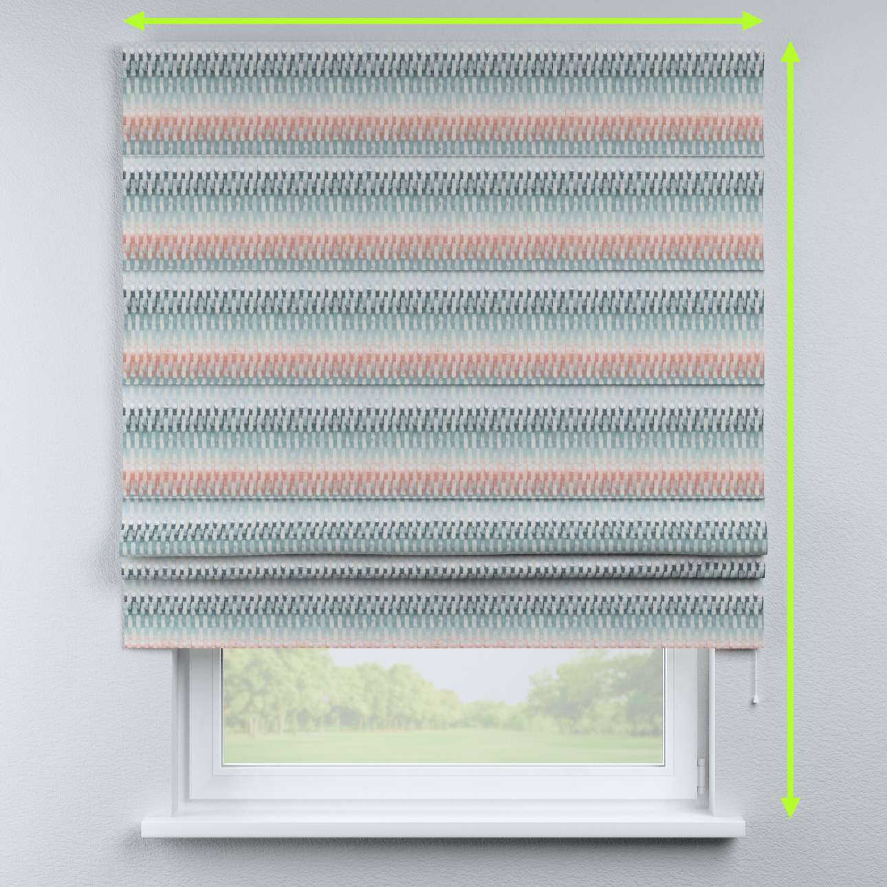 Padva roman blind in collection Pastel Forest, fabric: 142-51