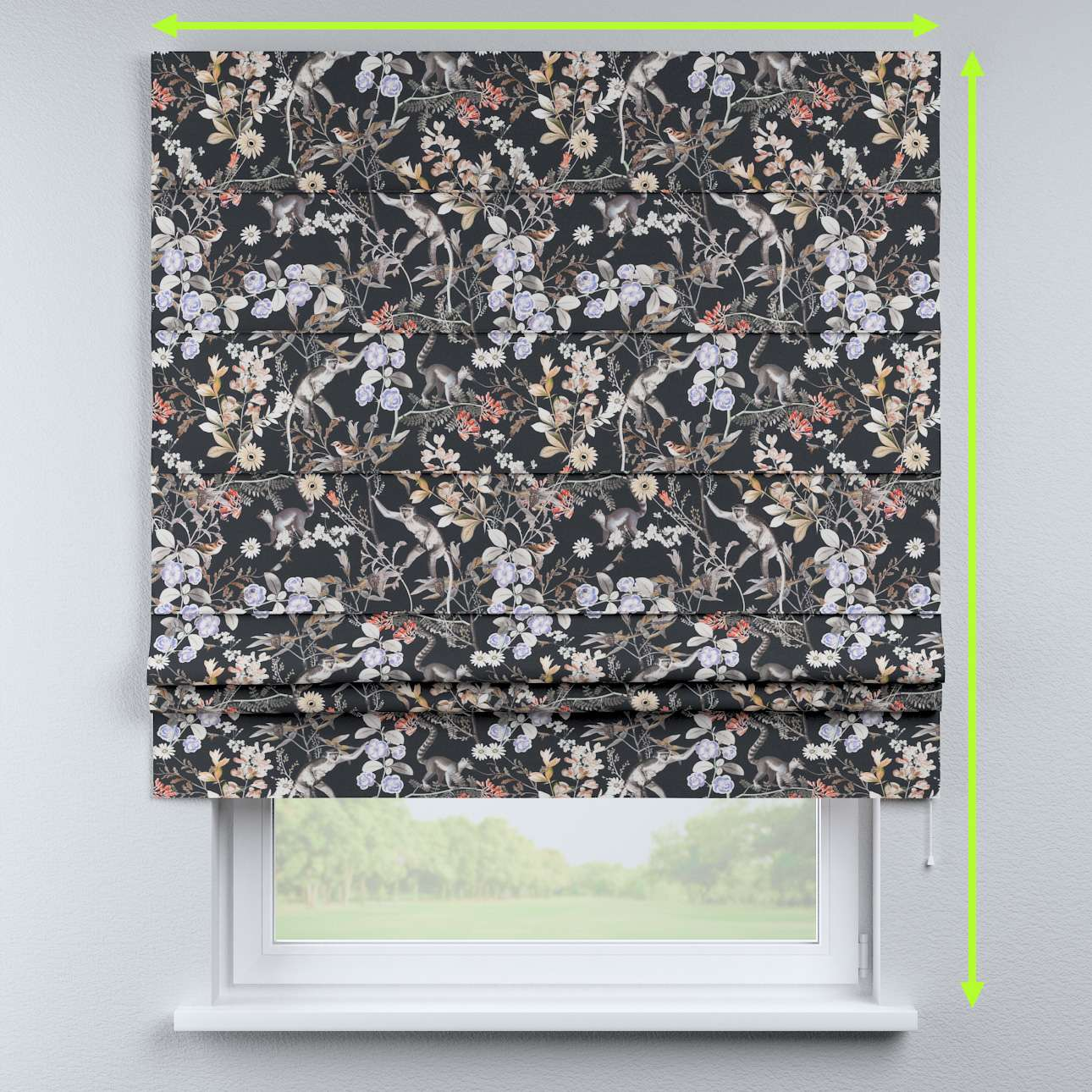 Padva roman blind in collection Tropical Island, fabric: 142-60