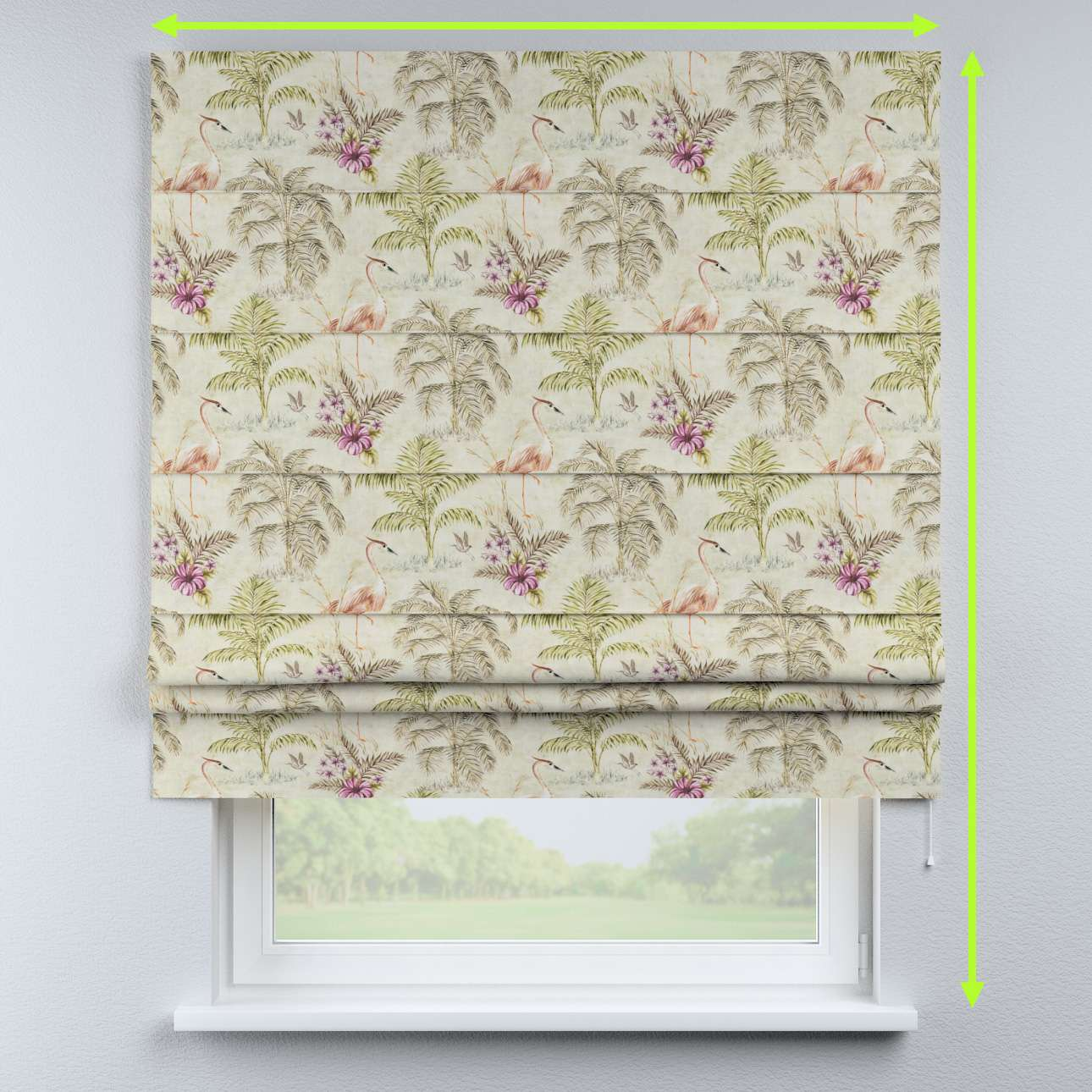 Padva roman blind in collection Tropical Island, fabric: 142-61