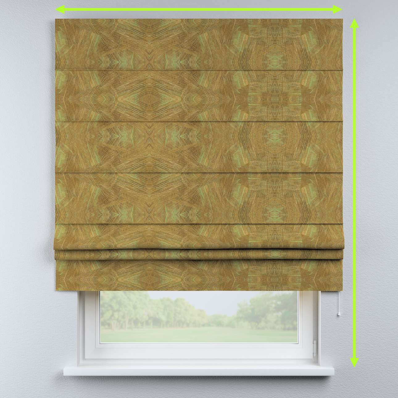 Padva roman blind in collection Tropical Island, fabric: 142-59