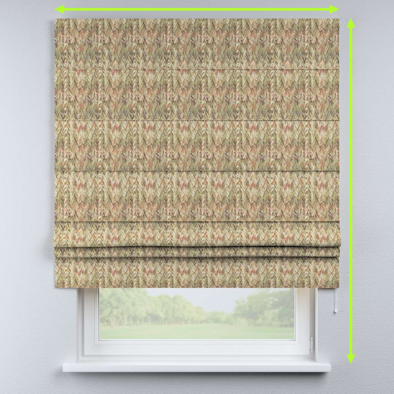 Padva roman blind in collection Tropical Island, fabric: 142-66