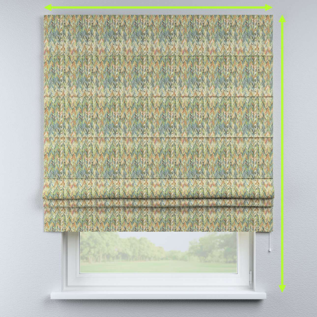 Padva roman blind in collection Tropical Island, fabric: 142-67