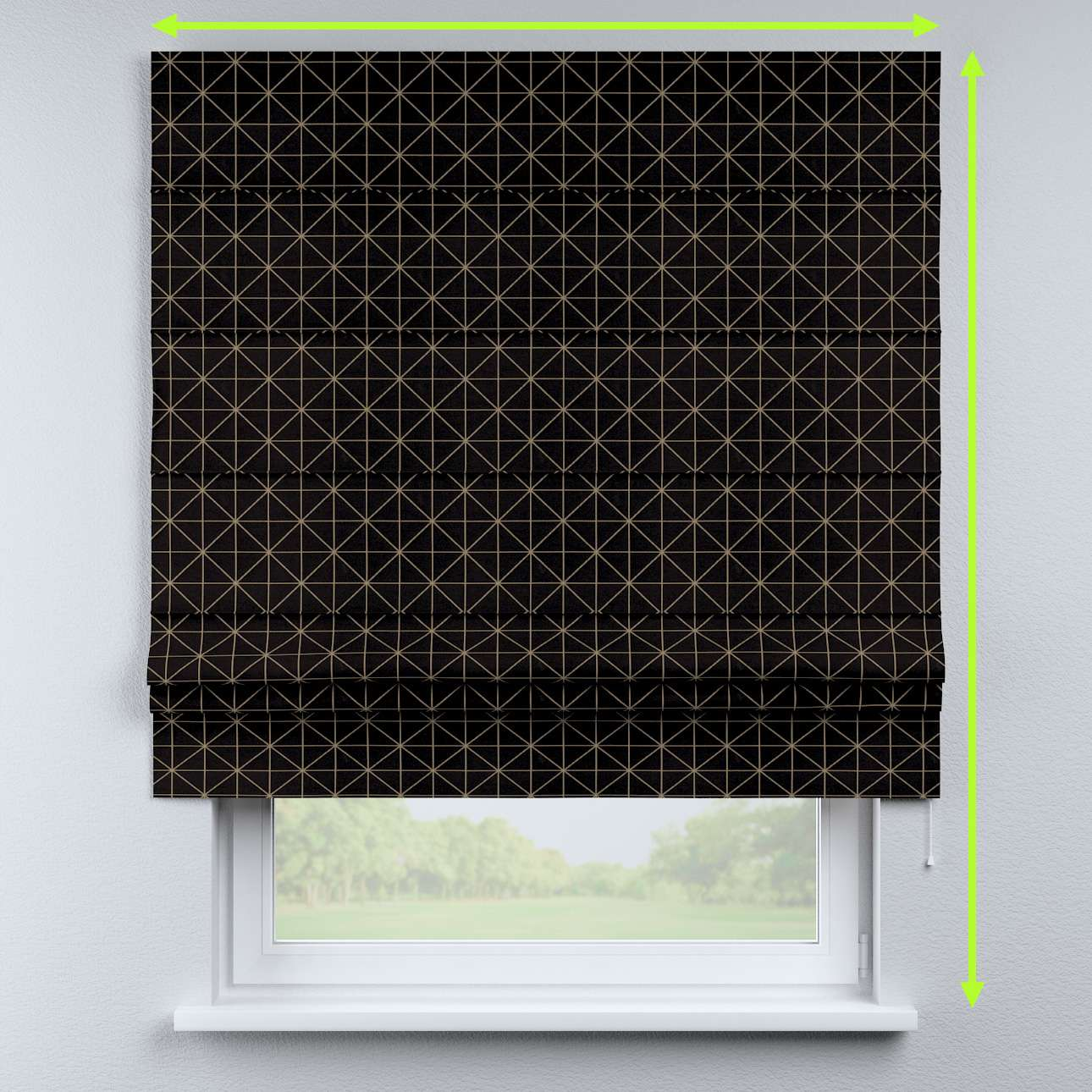 Padva roman blind in collection Black & White, fabric: 142-55