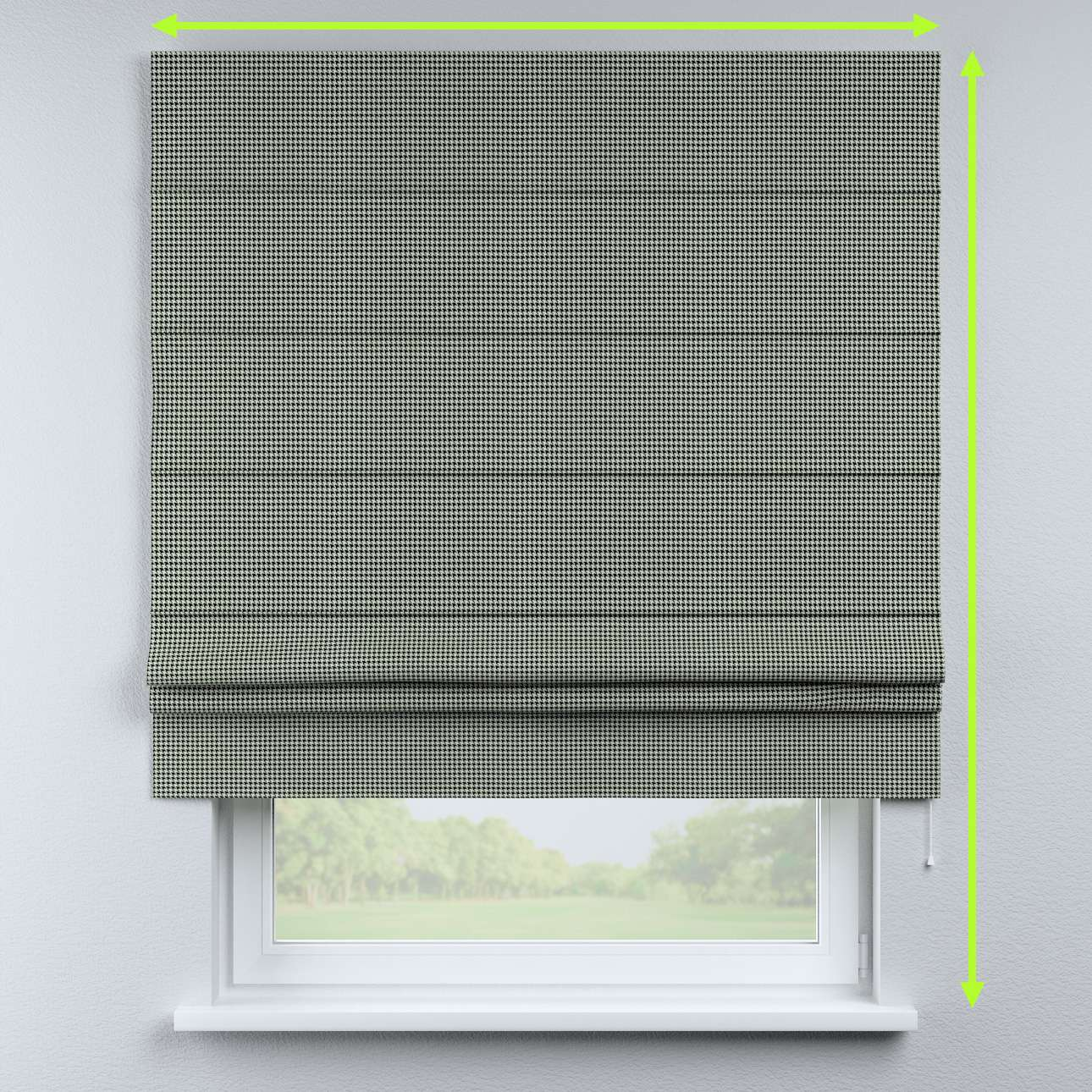 Padva roman blind in collection Black & White, fabric: 142-77