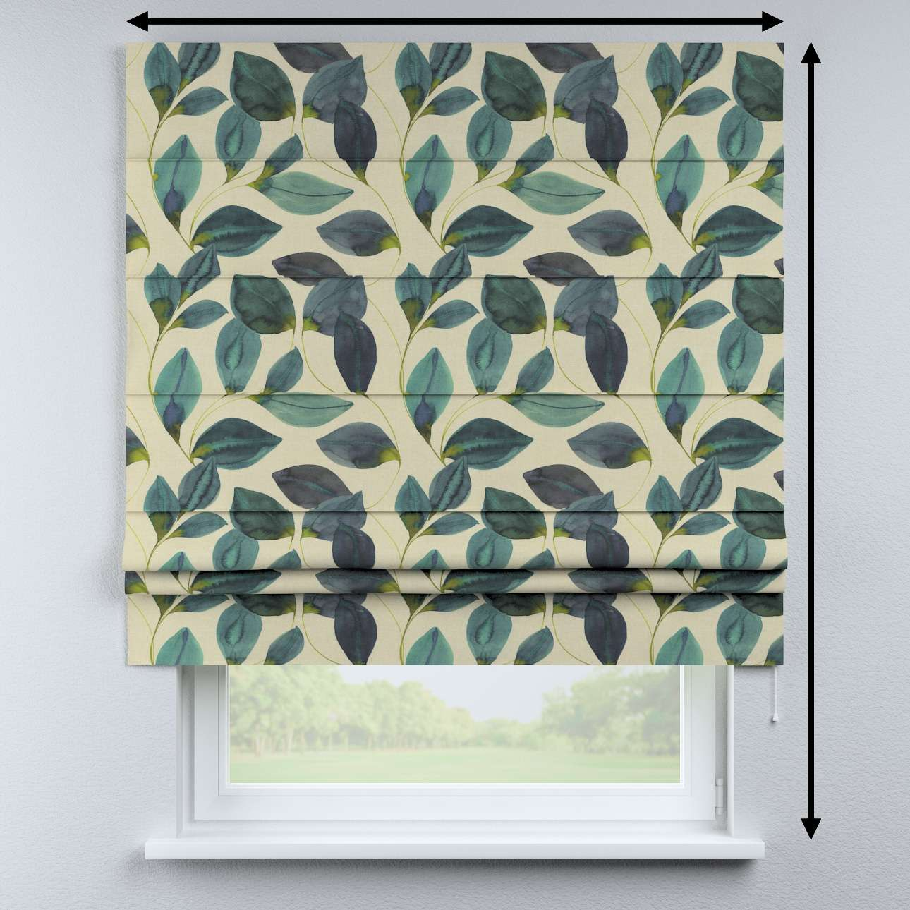 Padva roman blind in collection Abigail, fabric: 143-15