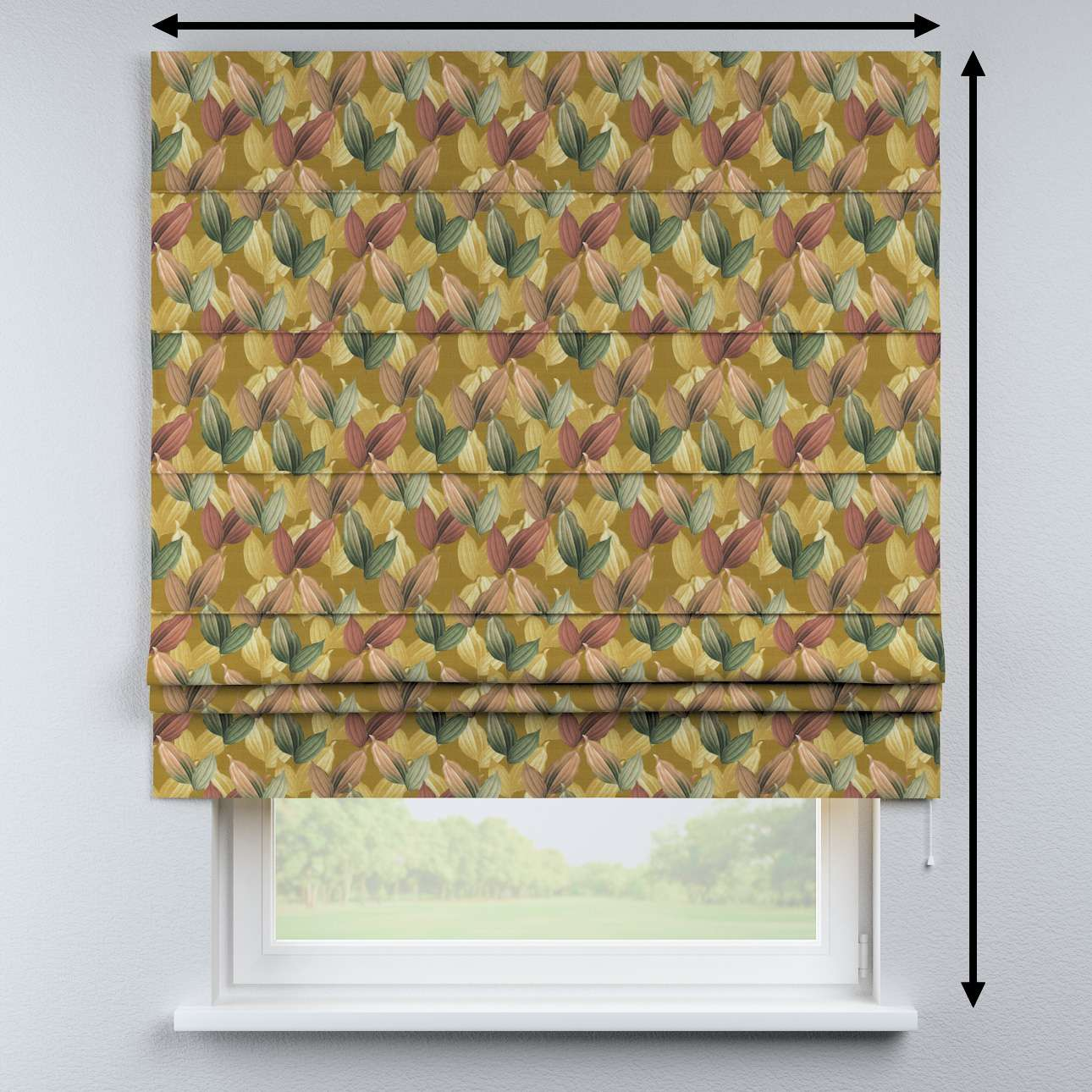 Padva roman blind in collection Abigail, fabric: 143-22