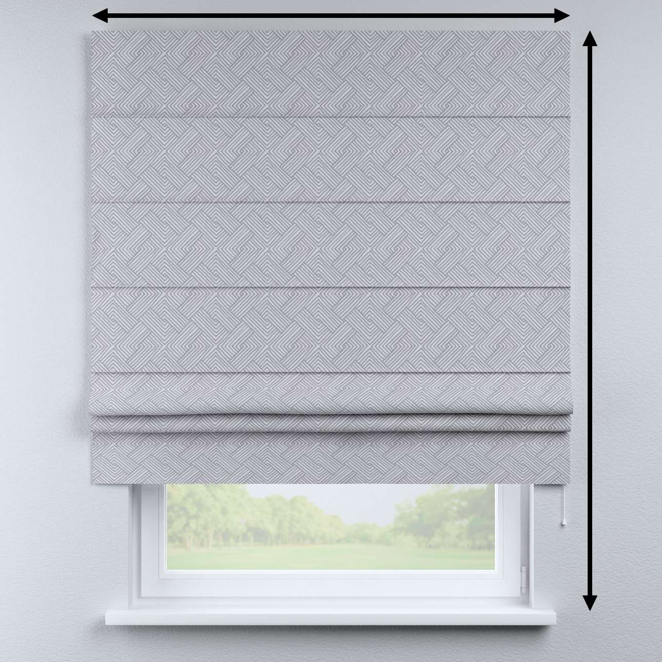 Padva roman blind in collection Sunny, fabric: 143-45