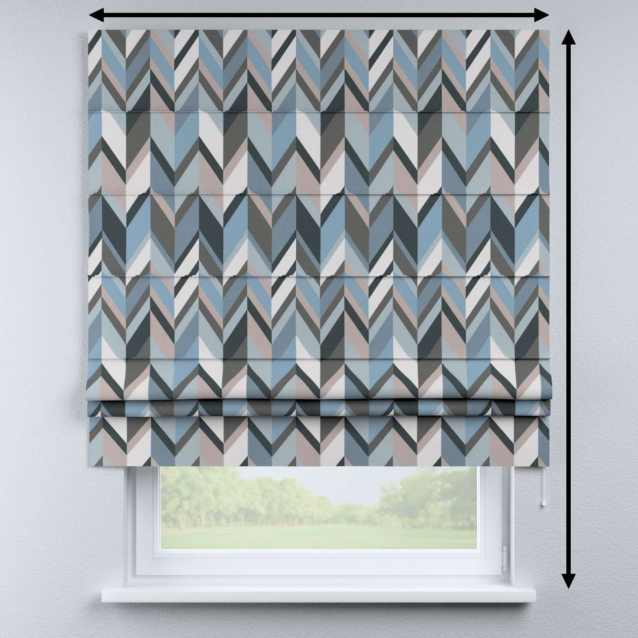 Padva roman blind in collection Vintage 70's, fabric: 143-54