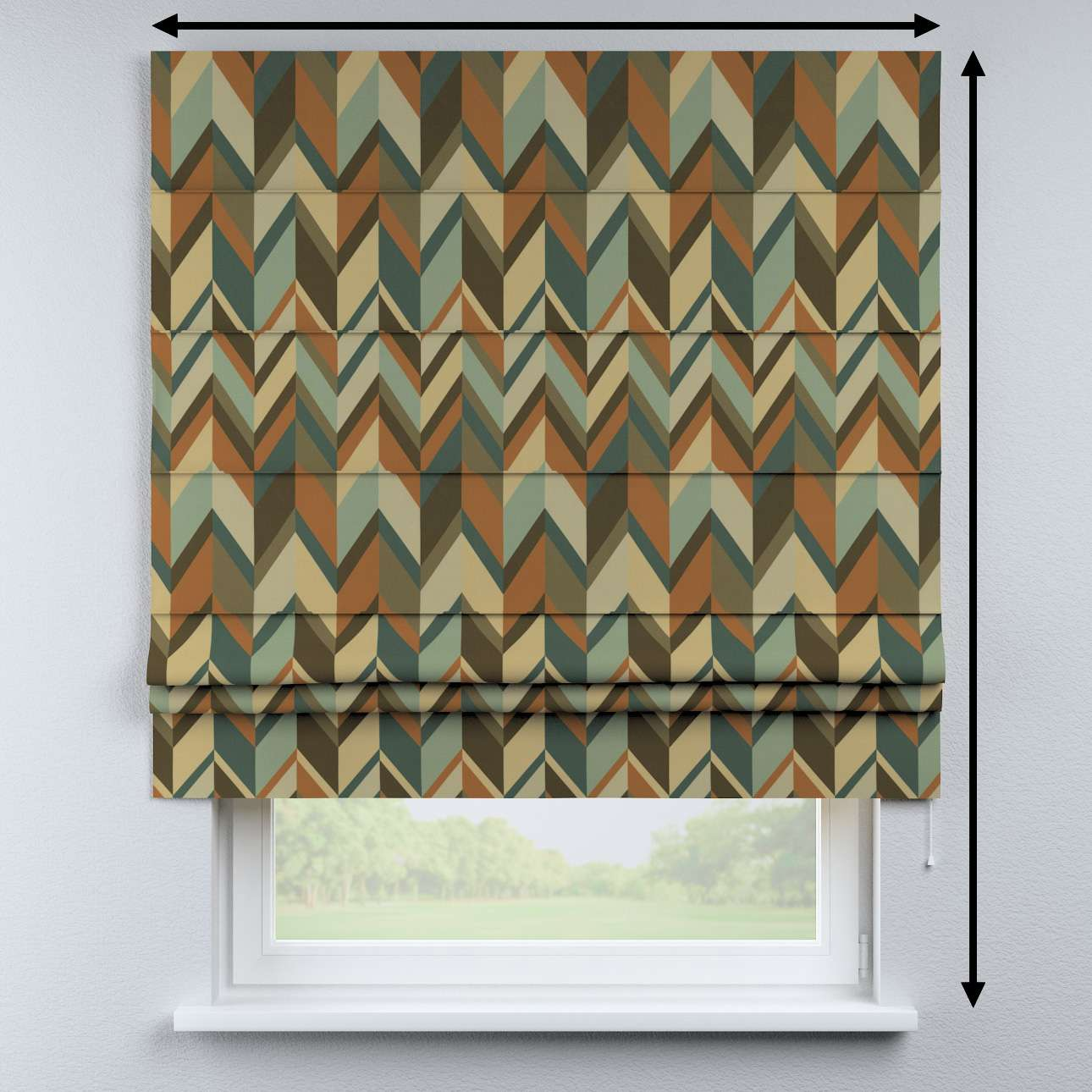 Padva roman blind in collection Vintage 70's, fabric: 143-55
