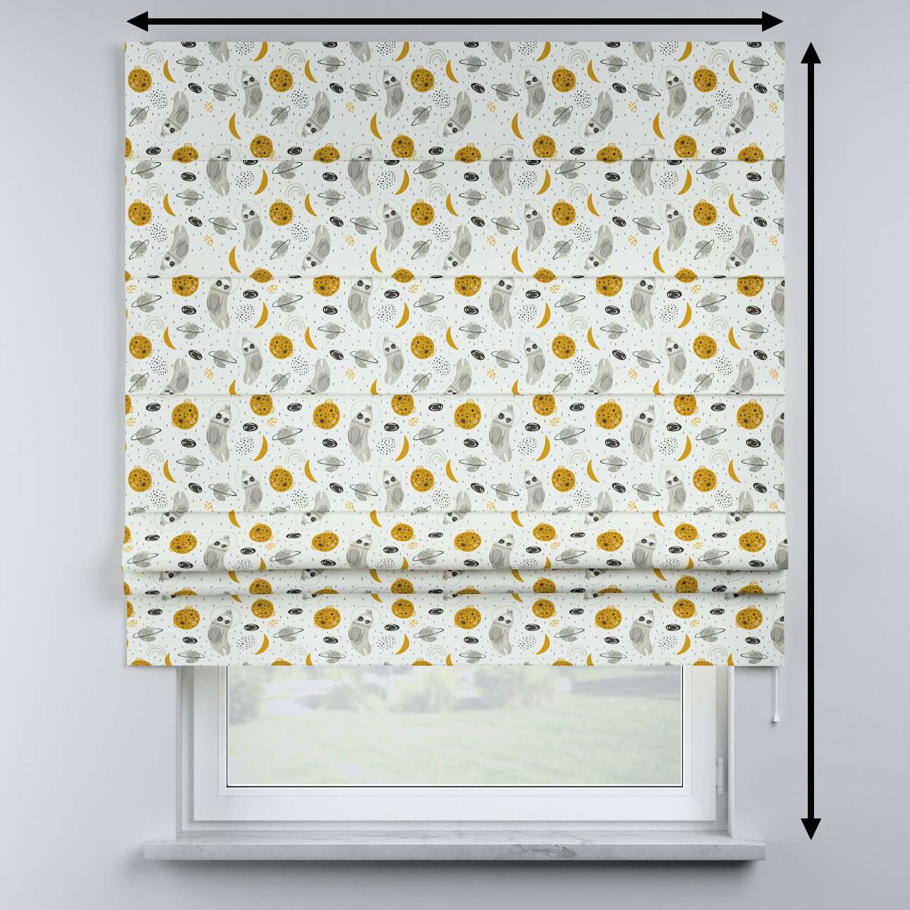 Sammy roman blind in collection Magic Collection, fabric: 500-44
