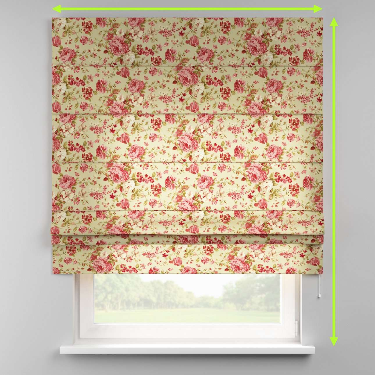 Padva roman blind  in collection Flowers, fabric: 311-06
