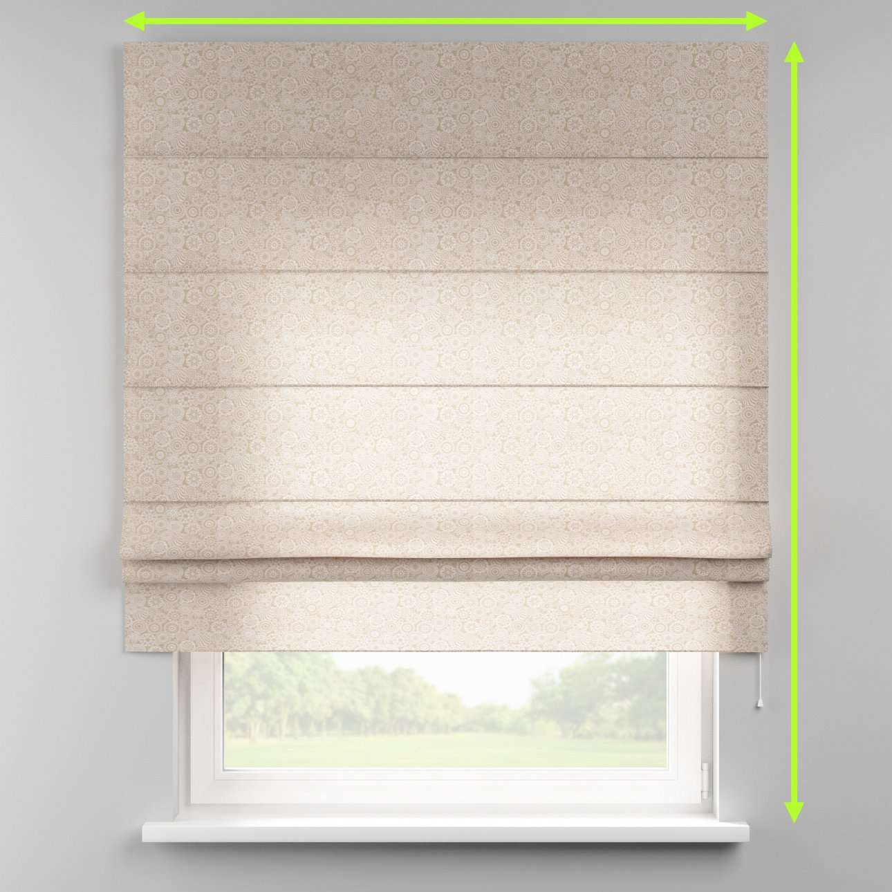 Padva roman blind  in collection Flowers, fabric: 311-09