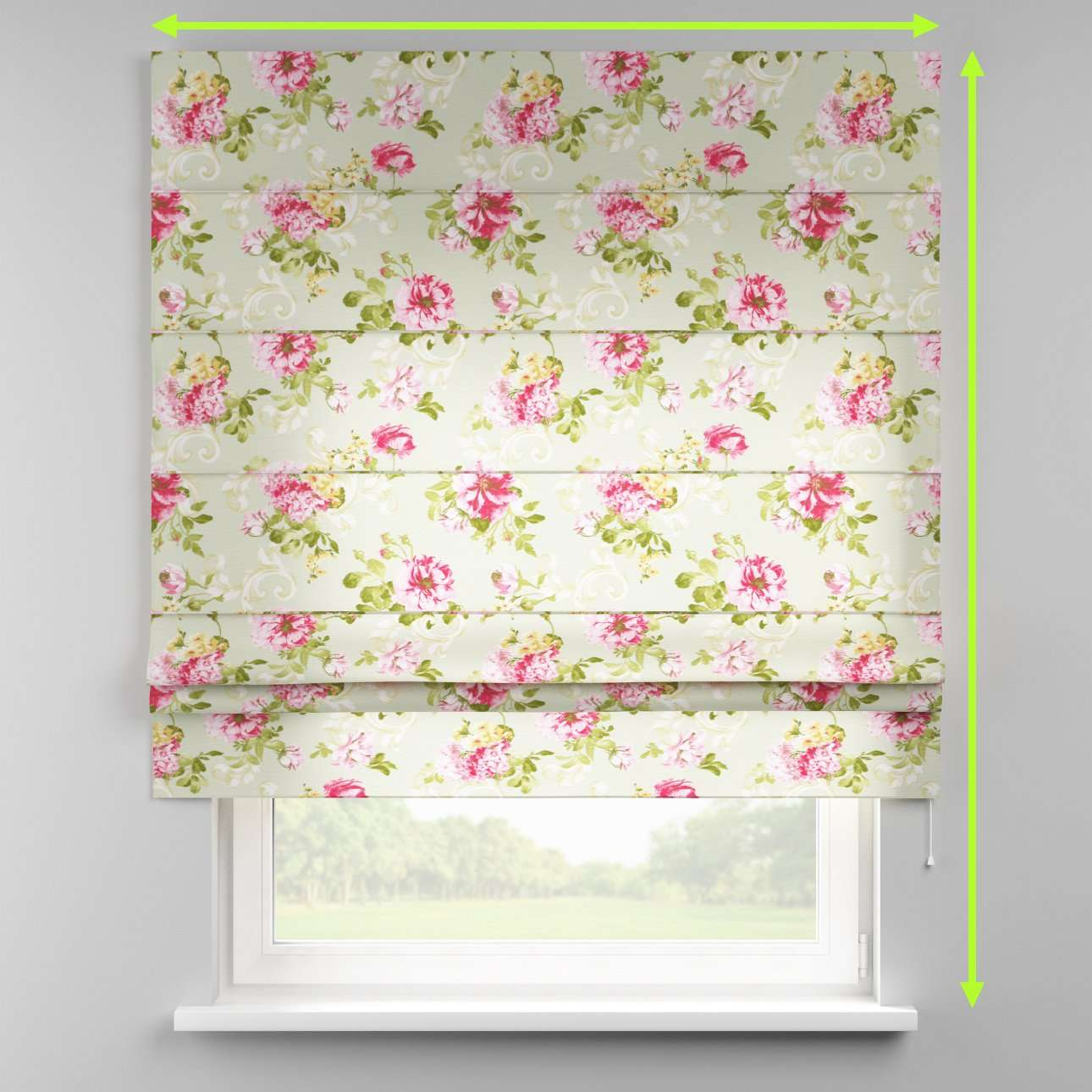 Padva roman blind  in collection Flowers, fabric: 311-10