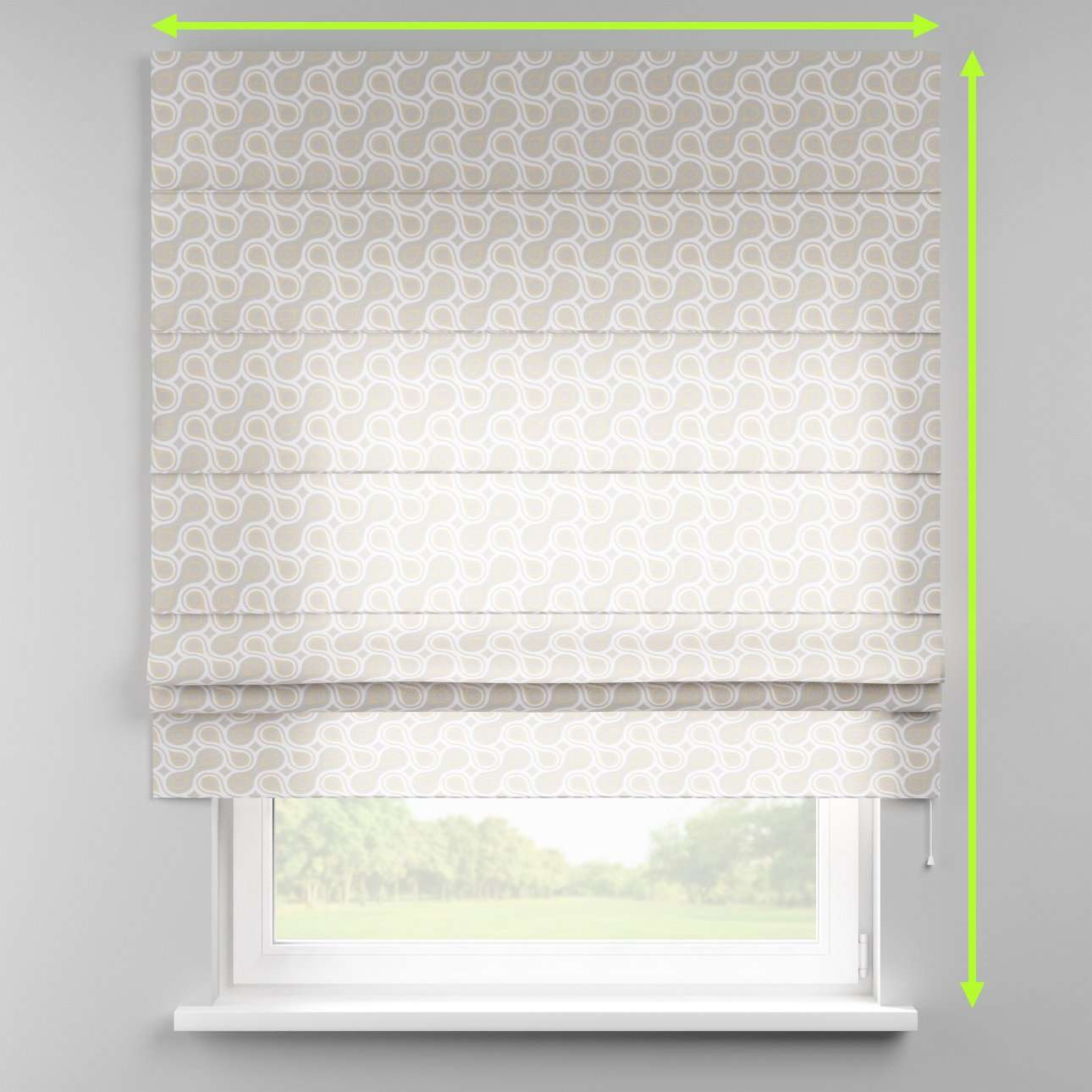 Padva roman blind  in collection Flowers, fabric: 311-11