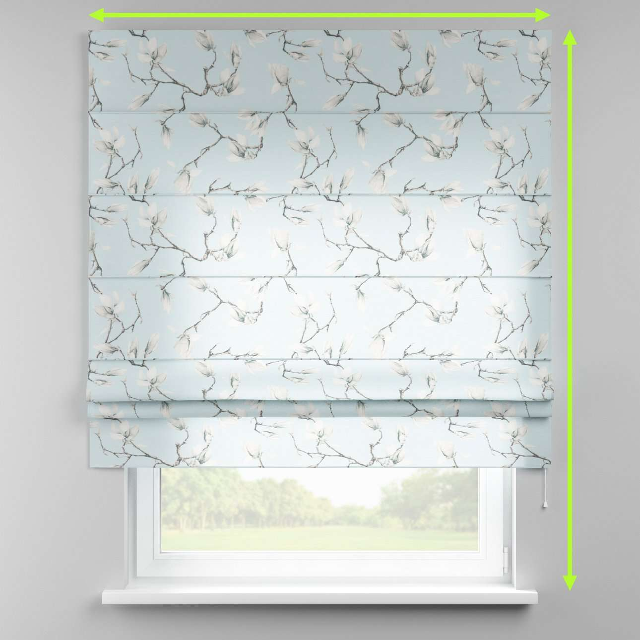 Padva roman blind  in collection Flowers, fabric: 311-14