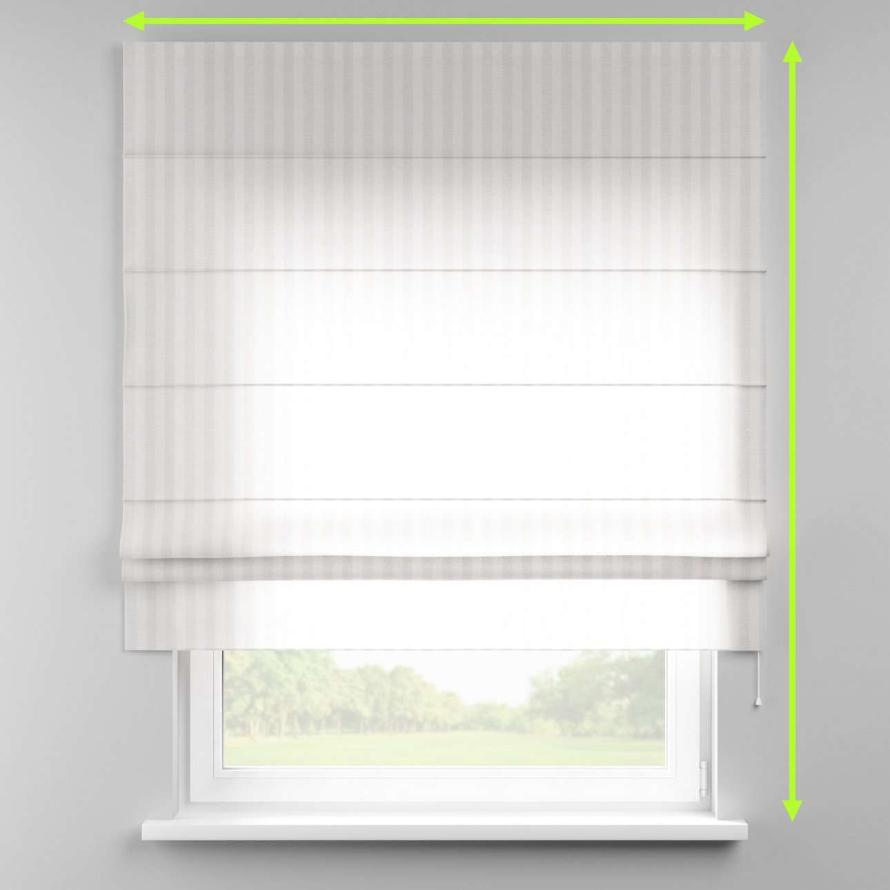 Padva roman blind  in collection Linen , fabric: 392-03