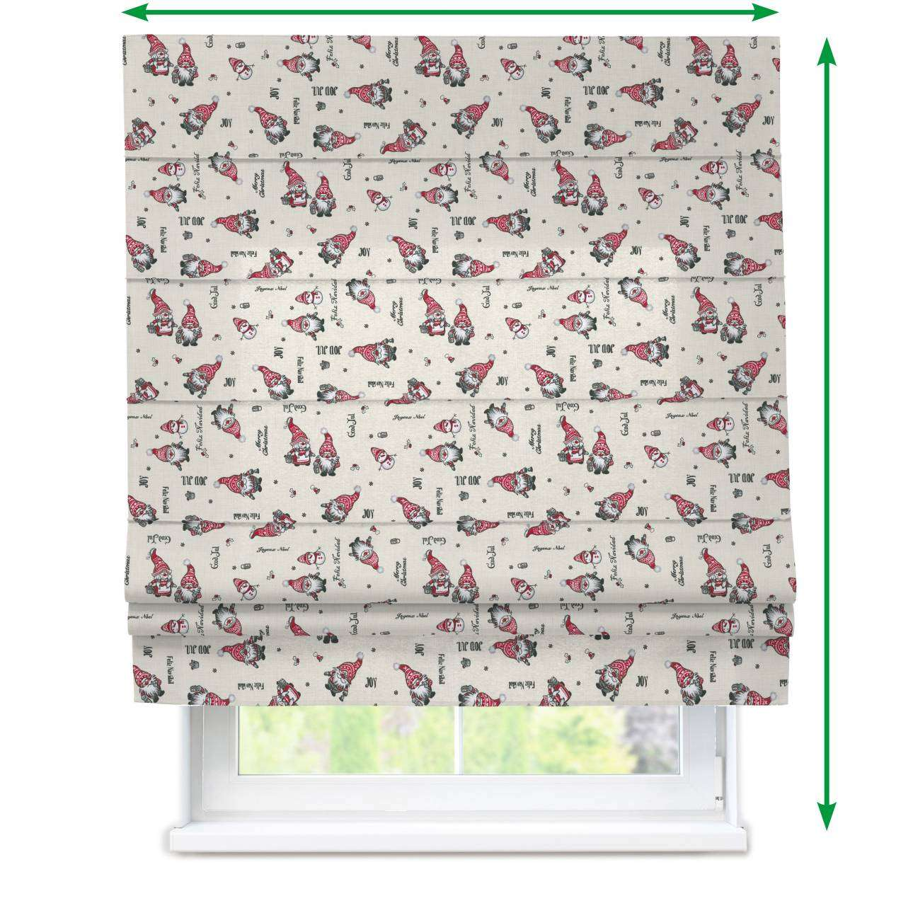 Padva roman blind  in collection Christmas , fabric: 629-28