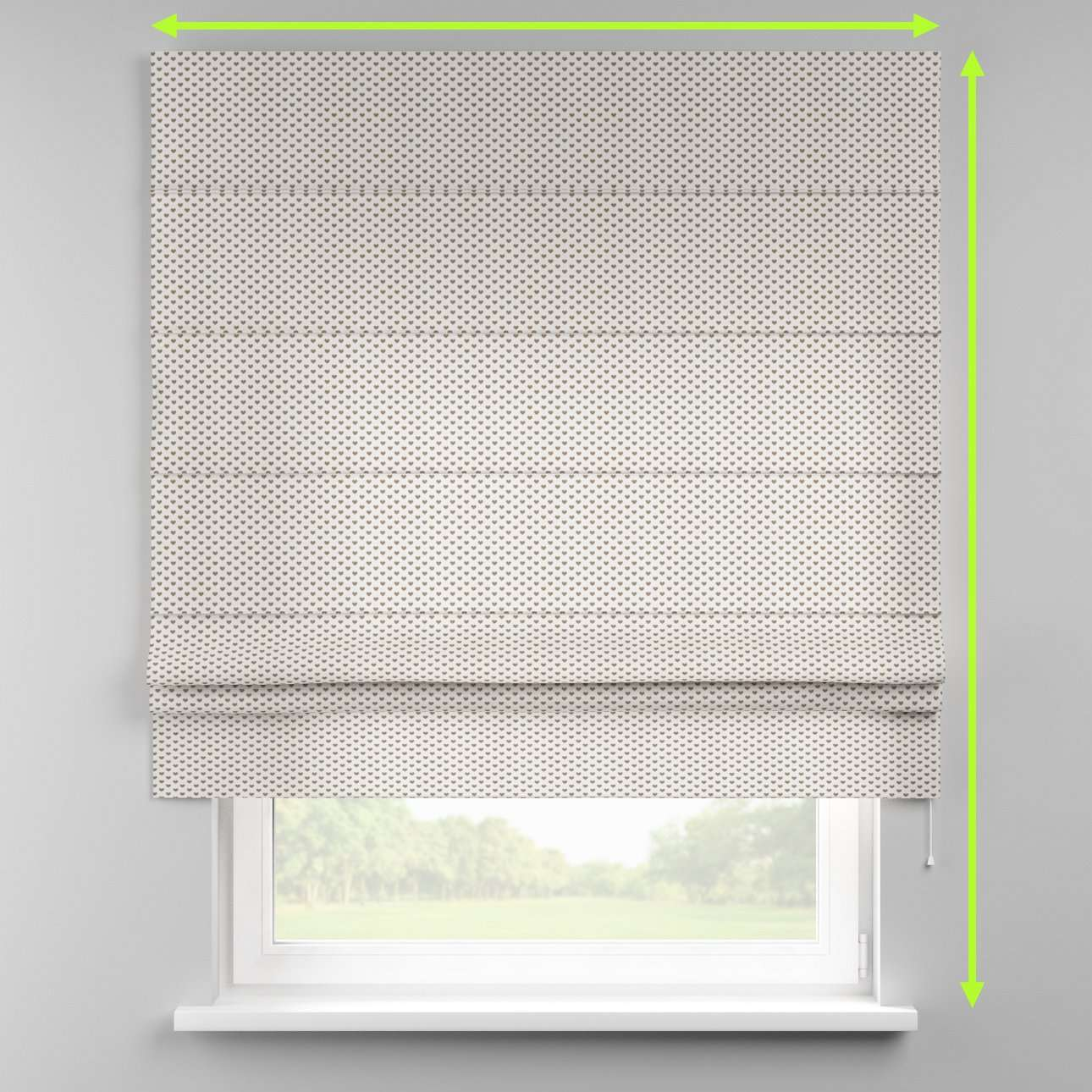 Padva roman blind  in collection Nordic, fabric: 630-08