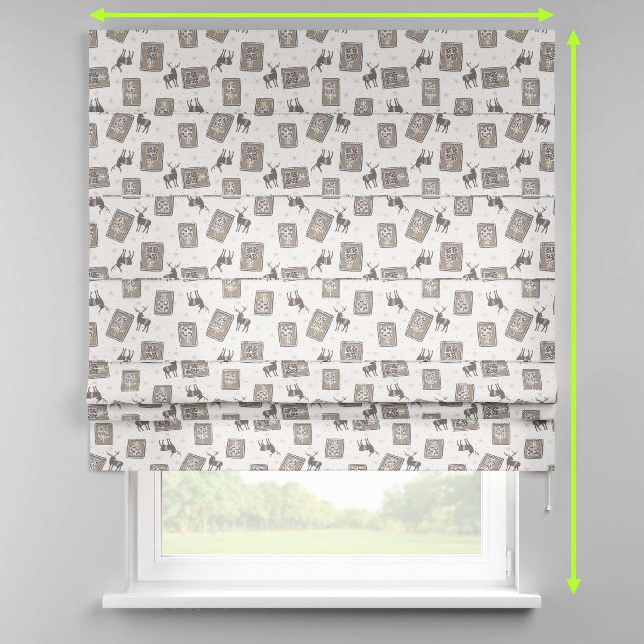 Padva roman blind  in collection Nordic, fabric: 630-10
