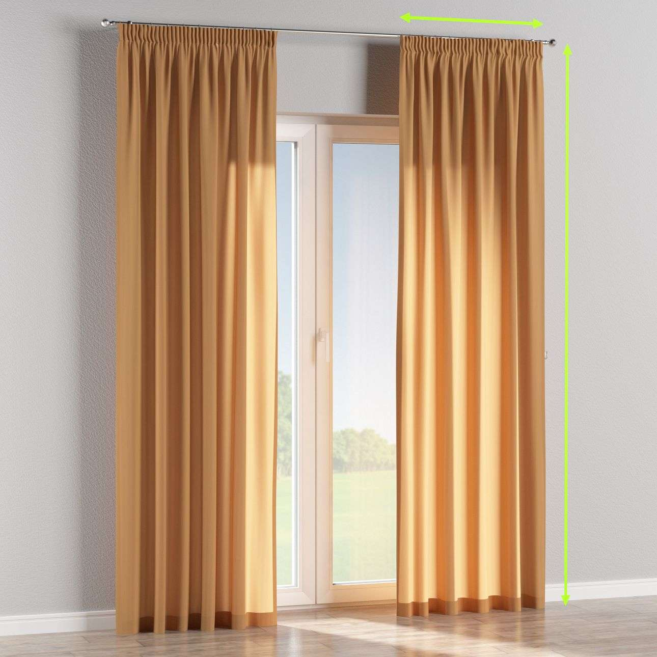 Pencil pleat curtains in collection Taffeta , fabric: 104-21
