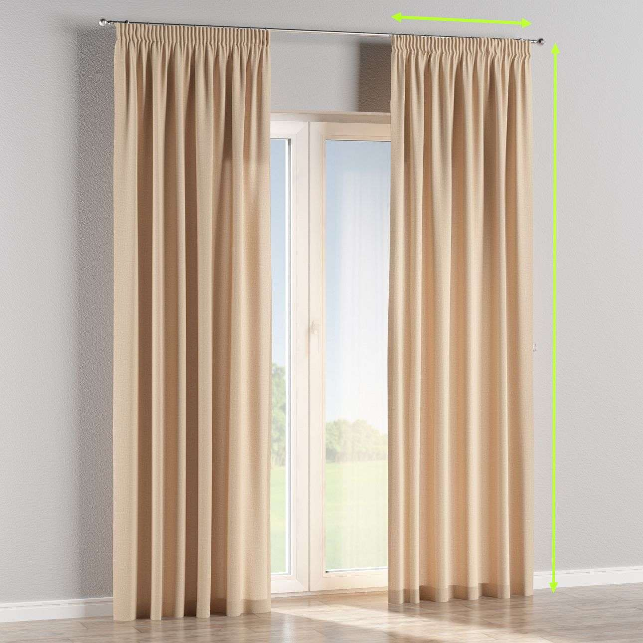 Pencil pleat curtains in collection Edinburgh , fabric: 115-78