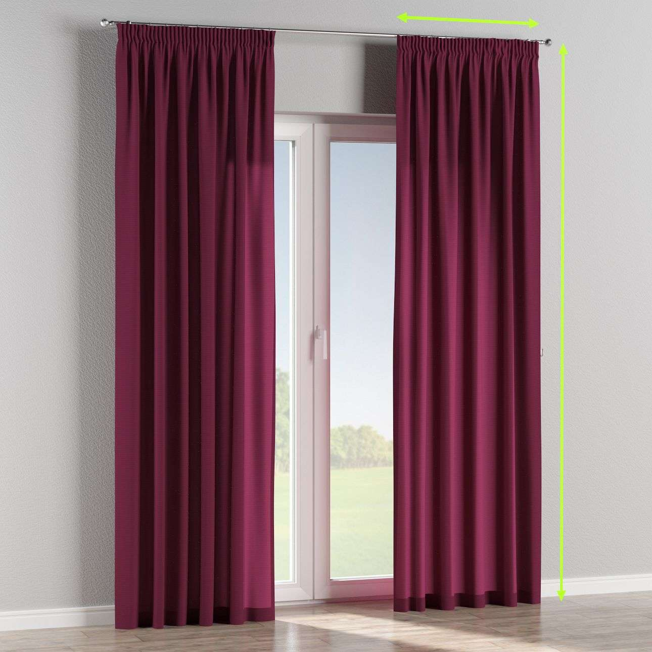 Pencil pleat curtains in collection Jupiter, fabric: 127-20