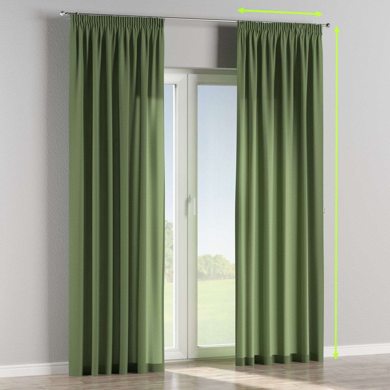 Pencil pleat curtains in collection Jupiter, fabric: 127-52