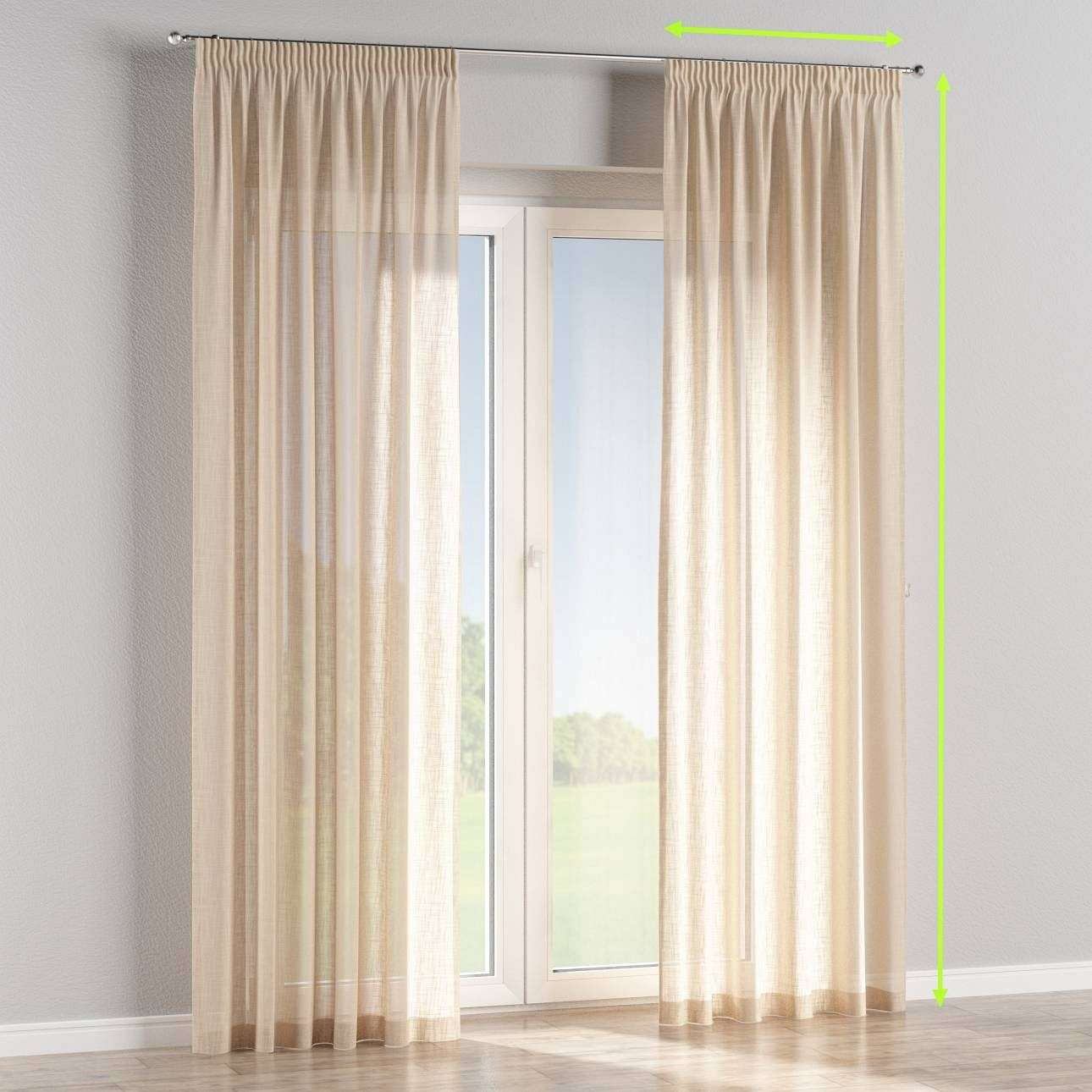 Pencil pleat curtains in collection Romantica, fabric: 128-01