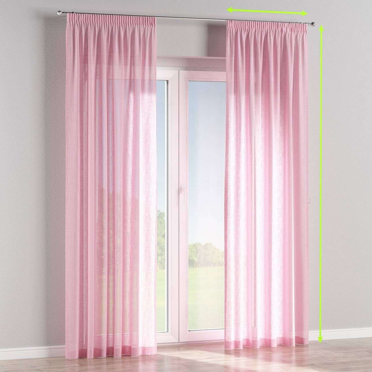 Pencil pleat curtains in collection Romantica, fabric: 128-03