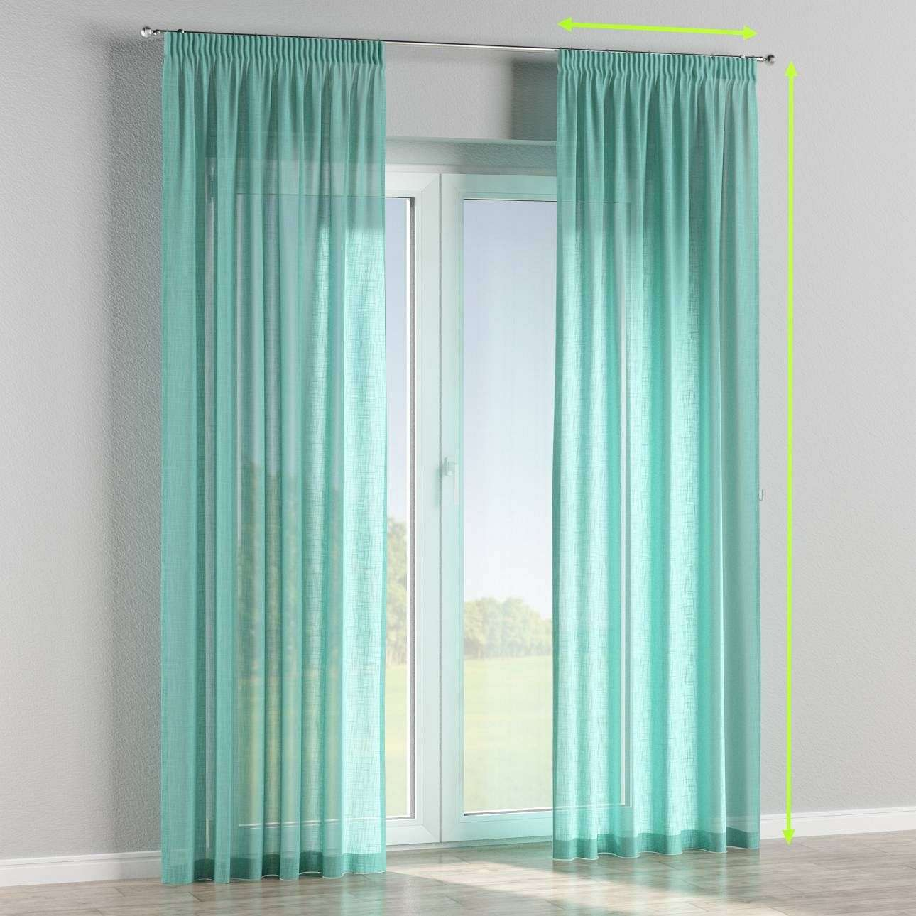 Pencil pleat curtains in collection Romantica, fabric: 128-05