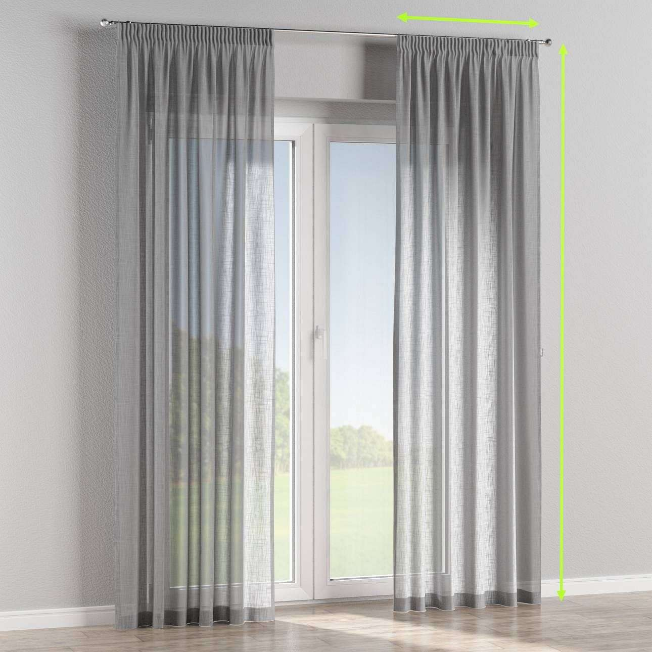 Pencil pleat curtains in collection Romantica, fabric: 128-08