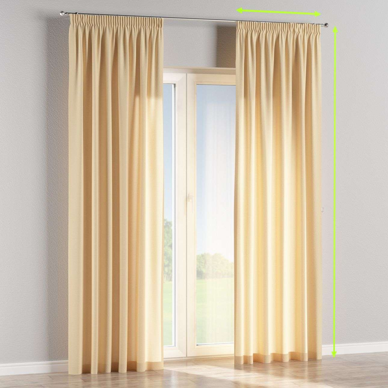 Pencil pleat curtains in collection Loneta , fabric: 133-04