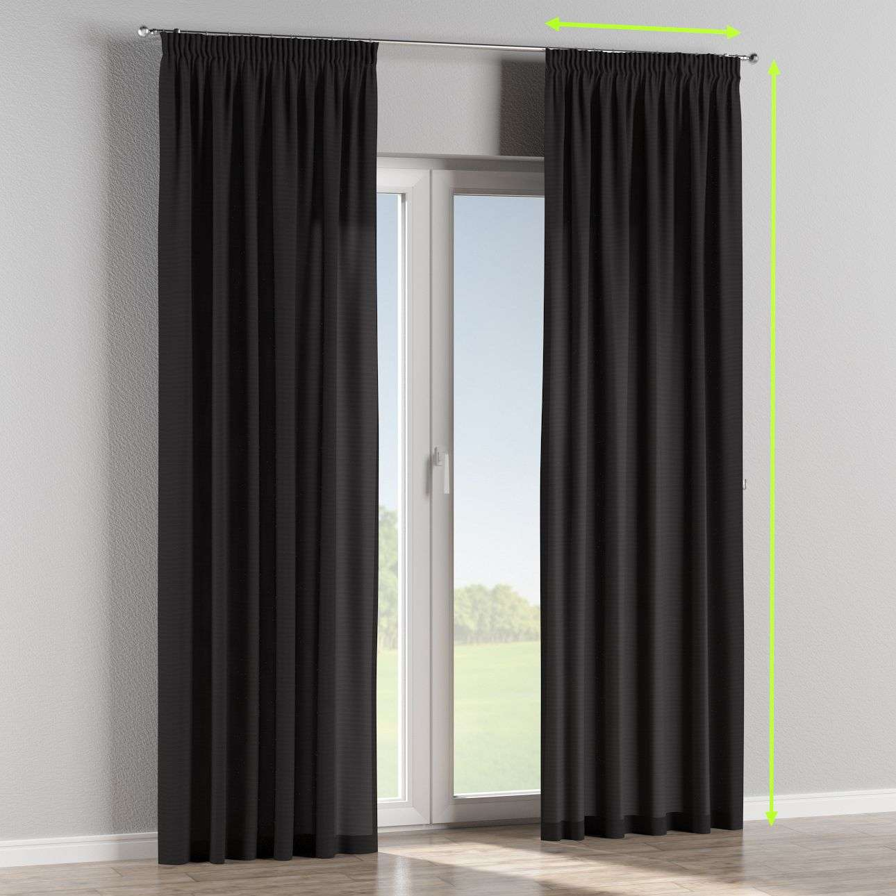 Pencil pleat curtains in collection Loneta , fabric: 133-99