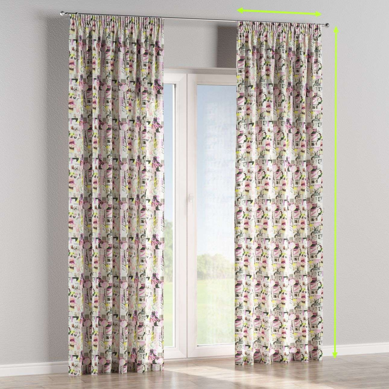 Pencil pleat curtains in collection Freestyle, fabric: 135-15