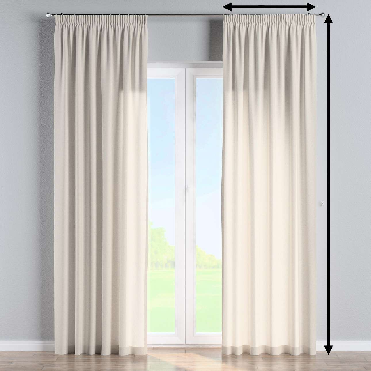 Függöny ráncolóval a kollekcióból Loneta Lakástextil, Dekoranyag: 133-65