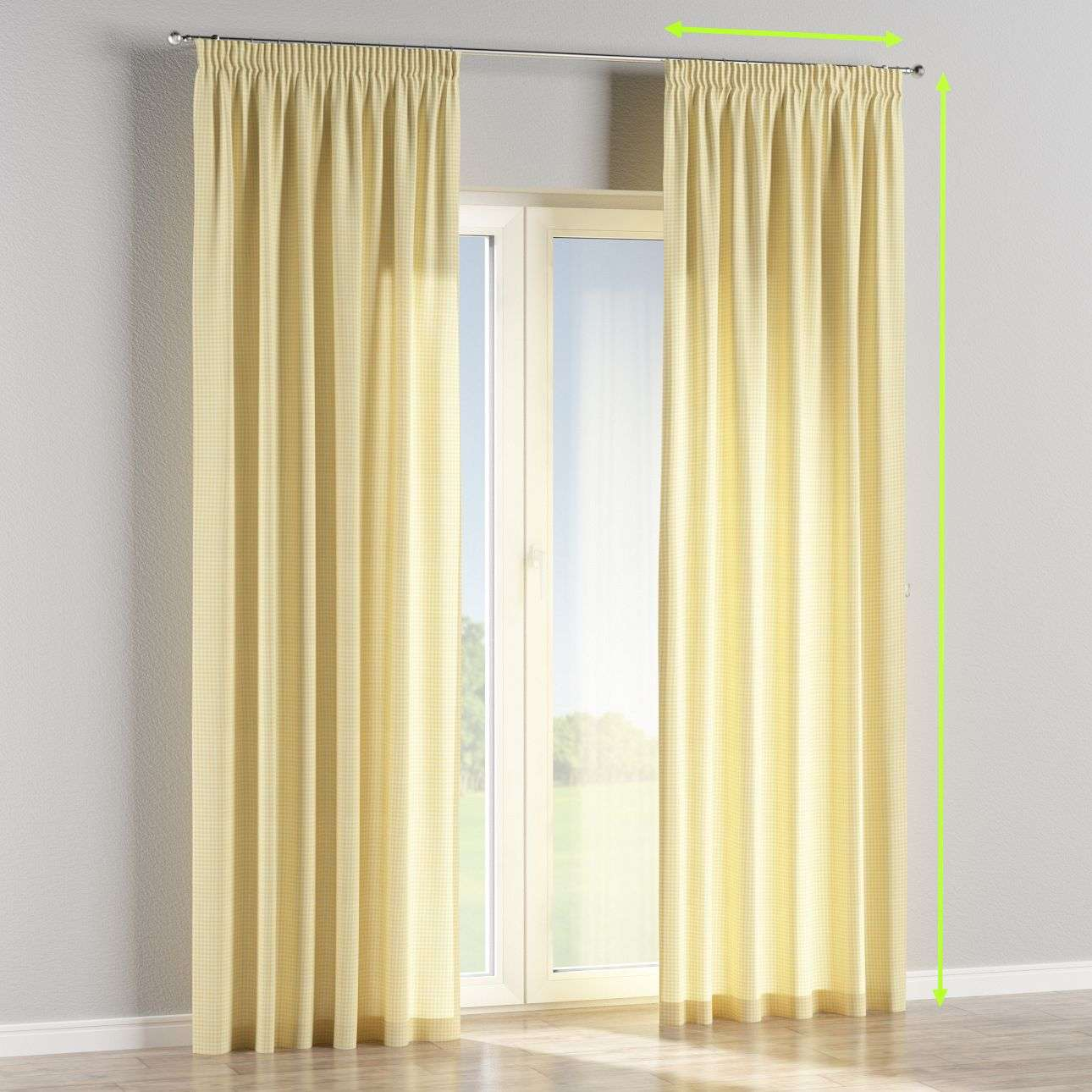 Pencil pleat curtains in collection Ashley, fabric: 137-64